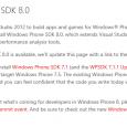 Nachdem vor einem Monat ungefähr die Windows 8 SDK Tools ungewollt in die Öffentlichkeit gelangt sind, warten nun alle Entwickler gespannt auf den offiziellen Release von Microsoft. Nun ist die […]